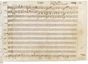 Manuscrit de la Flûte enchantée